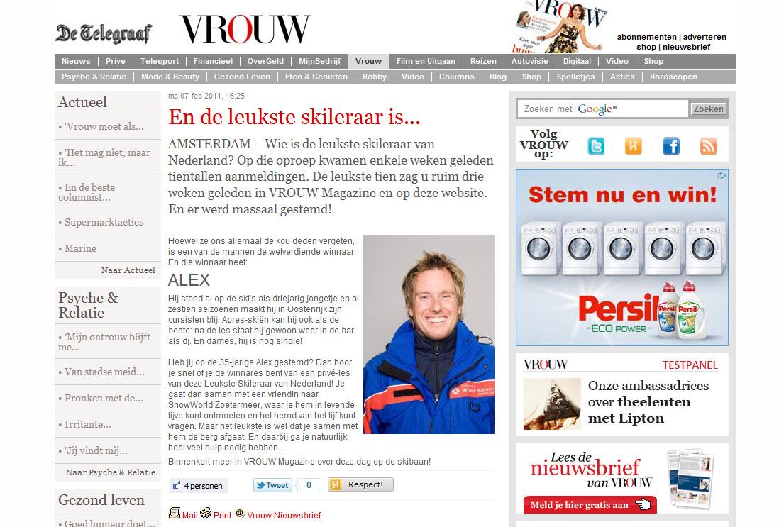 Alex Leukste skileraar van Nederland 2011