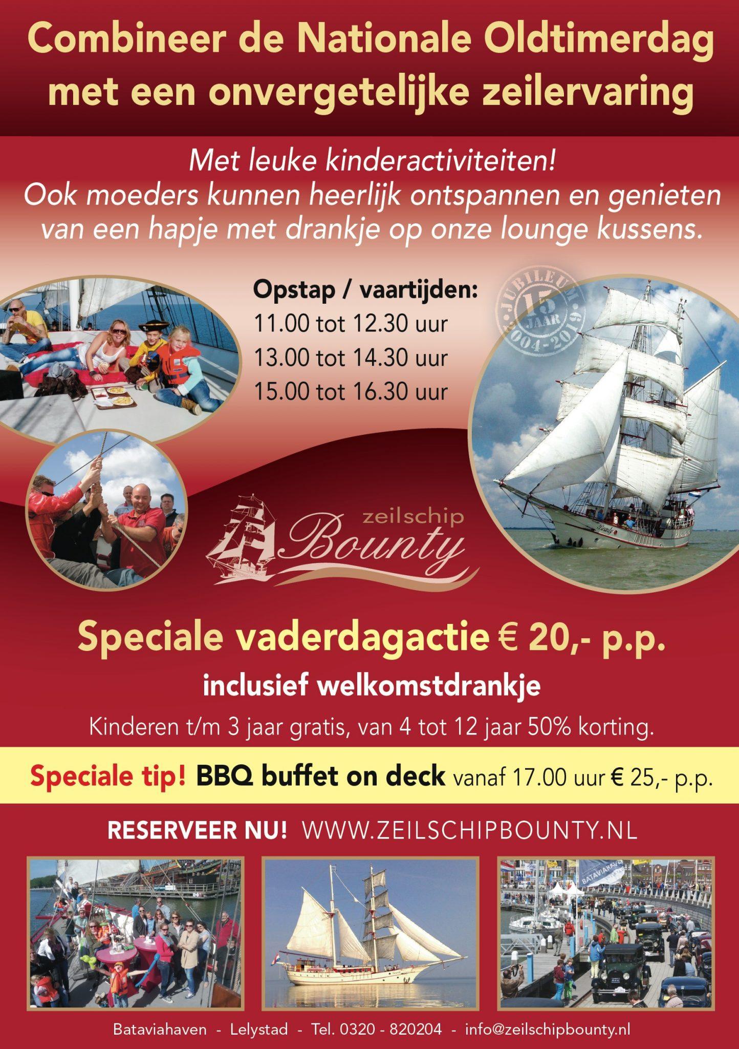 Oldtimerdag Bataviahaven Zeilen Bounty
