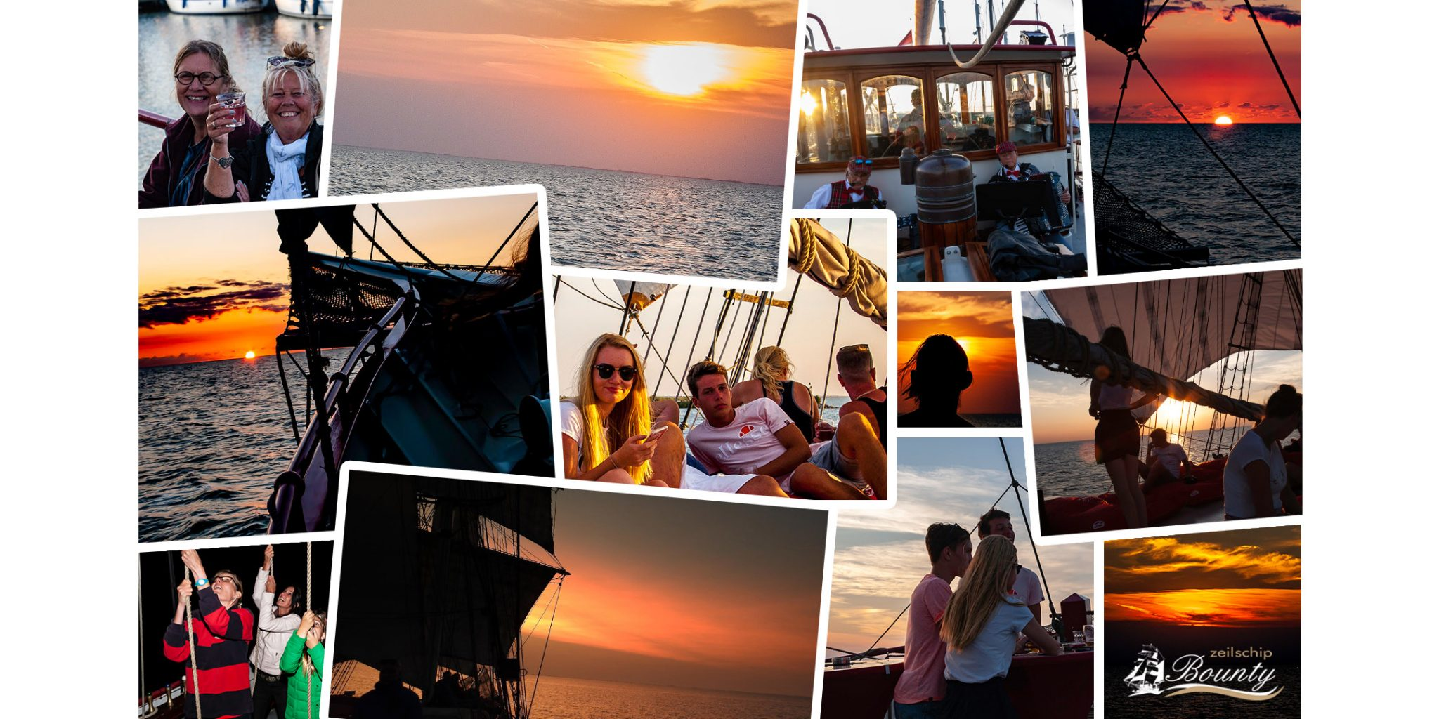 zeilschipbounty collage sunset cruise