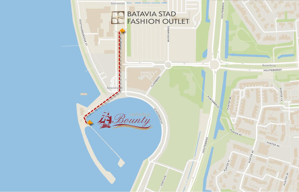 Route Batavia Stad – Bounty Bataviahaven