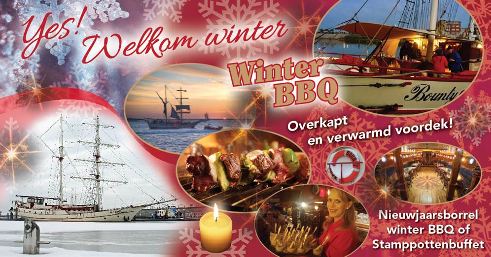 Zeilschip Bounty Winter Restaurant WinterBBQ
