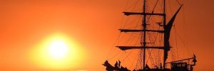 zeilschip bounty sunset