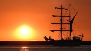 zeilschip bounty sunset